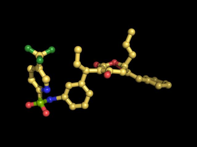 מבנה של התרופה Tipranavir - מסוג מעכבי פרוטאז. איור: MLGProGamer123