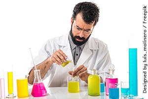 מדען עובד במעבדה