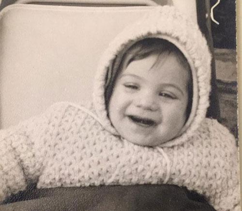 אורי התינוק בינואר 1971